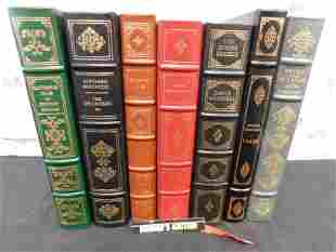 Lot of 7 Franklin Library Books