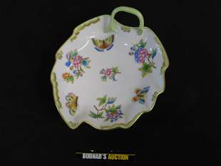 Herend Leaf Shaped Candy Dish