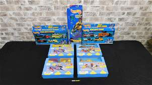 Lot of Hot Wheels including Playsets
