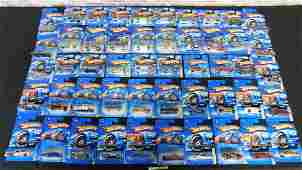 Lot of 50 Hot Wheels on Cards