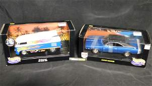 Lot of 2 Hot Wheels 1:18 Scale Diecast Cars