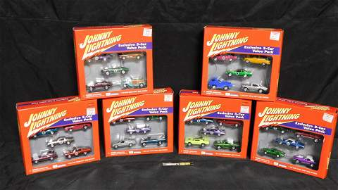 Lot of 6 Johnny Lightning Value Packs