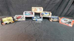 Lot of 8 Hot Wheels Sets in Display Cases