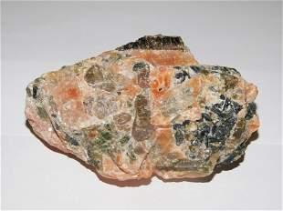 Greenish Apatite Crystals, Phosphates in Calcite