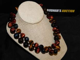 2 Tigers Eye Beaded Necklaces