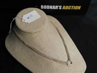 Sterling Silver Multi Strand Heart Necklace