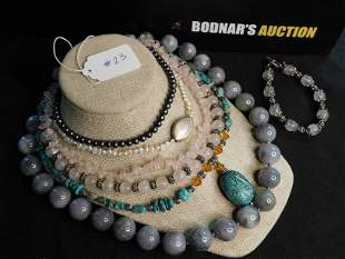 Lot of Assorted Stone Jewelry