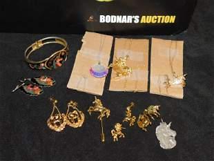 Lot of Unicorn Jewelry