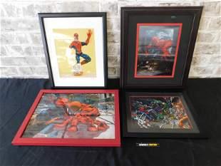 Lot of 4 Framed Spider-Man Prints