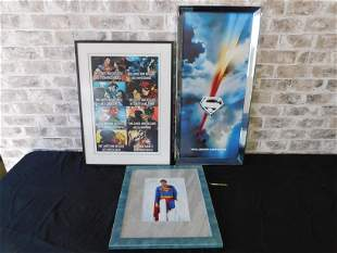 Lot of 3 Framed Superman and DC Prints