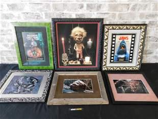 Lot of 6 Horror Movie Framed Prints