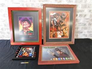 Lot of 4 Nightmare on Elm Street Framed Prints