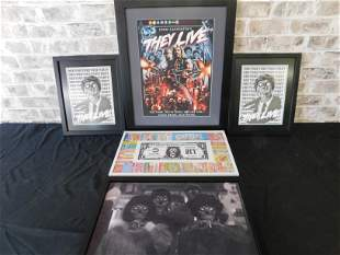 Lot of 5 They Live Horror Framed Prints