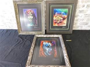 Lot of 3 Horror Movie Themed Framed Prints
