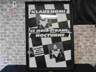 Klaus Nomi Paris Framed Poster