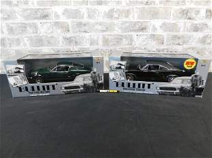 Lot of 2 American Muscle Bullit 1:18 Scale Die-Cast