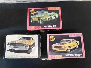 Lot of 3 Vintage AMT Model Kits