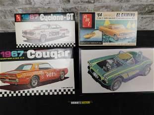 Lot of 4 Vintage AMT Model Kits