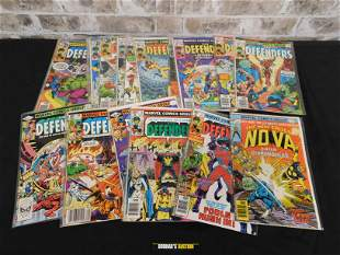 Short Box of Comics including 70's Marvel Defenders