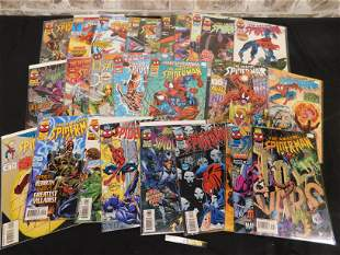 Short Box of Comics including 1990's Amazing Spider-Man