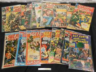 Short Box of Comics including Sgt. Fury and Swamp Thing