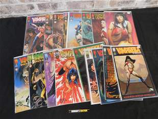 Short Box of Comics including 1990's Vampirella and