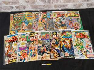Short Box of Comics including Ms. Marvel and Captain
