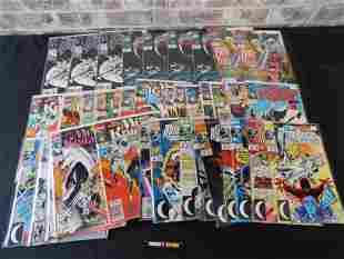 Short Box of Comics including S Platt Moonknight Covers