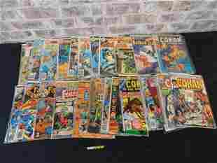 Short Box of Comics including Conan, Batman and