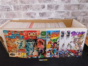 Long Box of 1990's Mostly DC Comics including Marvel