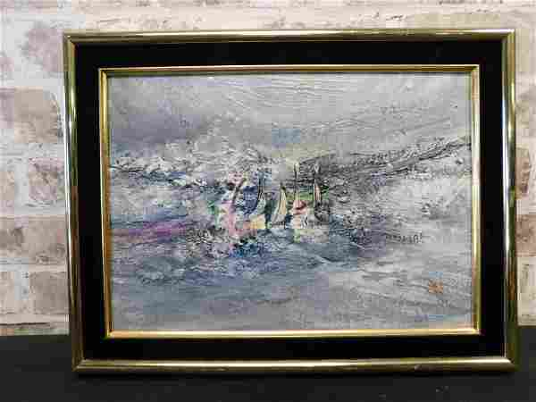 Angry Sea and Sails by Ruth McKee Oil on Board
