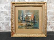 Oil on Board - Sailboat by Ruth McKee