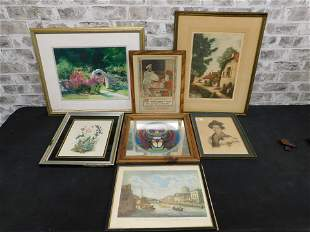 Lot of 7 Pieces of Framed Art