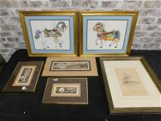 Lot of 6 Pieces of Art including Prints, Lithos and