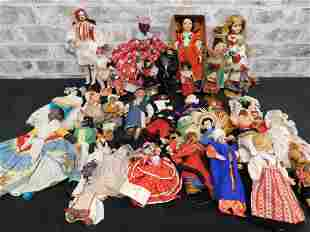 Large Lot of Dolls from Around the World
