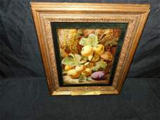 19th Century Oil on Board - Still Life of Apples and