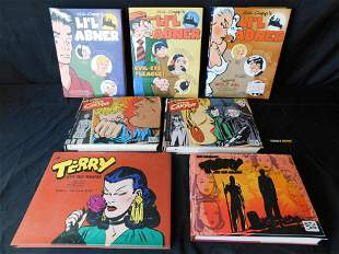 Lot of Terry and the Pirates, Li'L Abner, and Steve