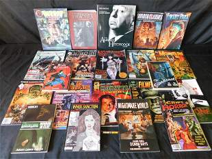Large Lot of Horror Related Books and Magazines