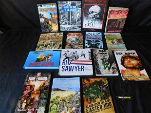 Large Lot of War Related Books and Comic Books