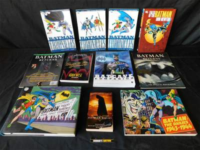 Large Lot of Batman Hardcovers and Softcover Books