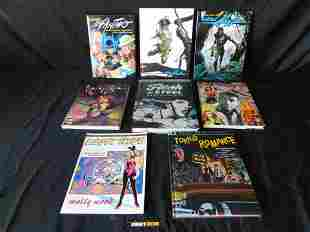 Lot of 7 Comic Artist Related Hard and Soft Cover Books