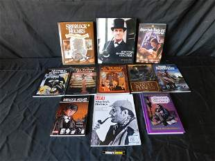 Lot of 11 Sherlock Holmes Hard and Soft Cover Books