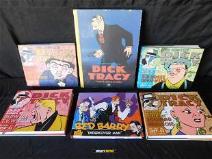 Lot of 6 Dick Tracy and Red Barry Hardcover Books