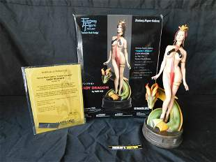 Fantasy Figure Lady Dragon Statue by Wei Ho