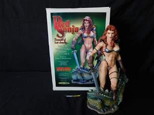 Hard Hero Red Sonja Cold Cast Porcelain Statue