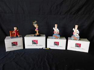 Lot of 4 Character Collectibles Betty Boop Figurines