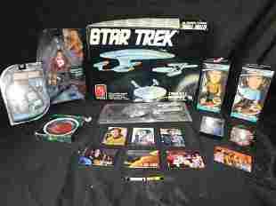 Lot of Star Trek Items including Model Kit and