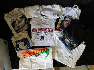 Lot of 9 Vintage T-Shirts including Music and
