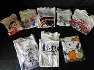 Lot of 8 Vintage T-Shirts - Cartoon/Comic Related