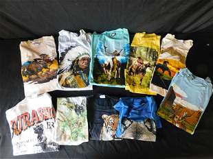 Lot of 10 Vintage T-Shirts including Native American